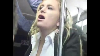 Blonde groped to orgasm on bus