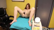 Masturbating in Her Stepfather's Office