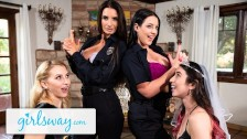 Angela White Turns This Bachelorette Fuck Party Into A Foursome – Girlsway