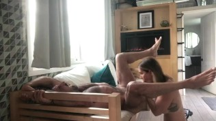 Sexy Muscle Daddy gets rimmed and creampies hot milf!!