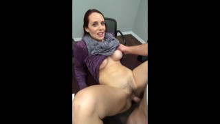 Naughty amateur MILF gets amazing creampie from boy