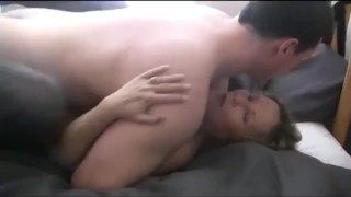 Son with very big cock fucks hard his real stepmother